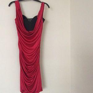 68e71520f53 BCBGMaxAzria Dresses - Seductive drape evening dress